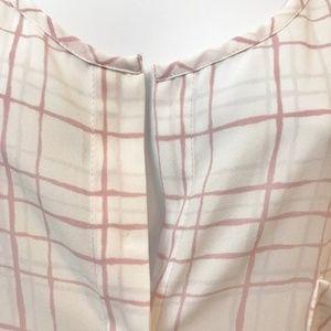 Calvin Klein XL Jeans pink/white blouse